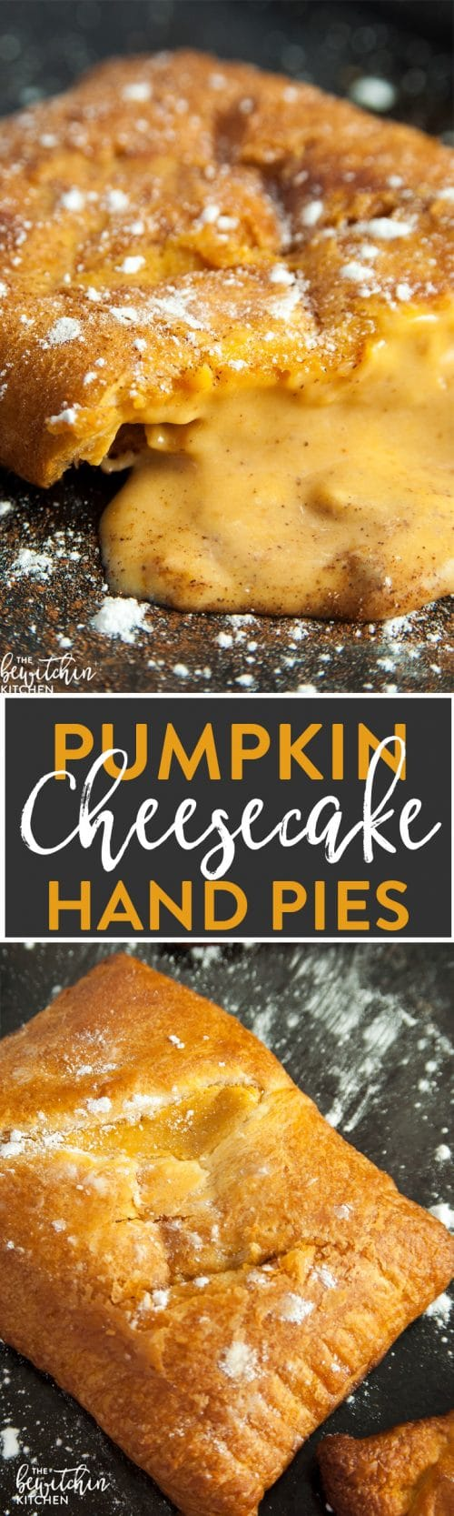 Pumpkin Cheesecake Hand Pies - whether you call them hand pies or turnovers these pumpkin pastry desserts are delicious recipe to make. They're easy and take less than 20 minutes!
