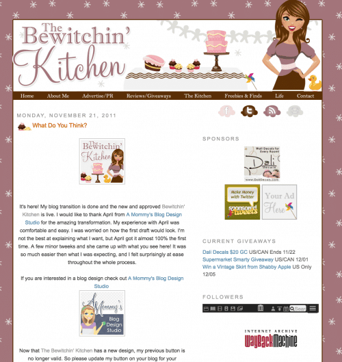Throwback! The Bewicthin' Kitchen Circa 2011
