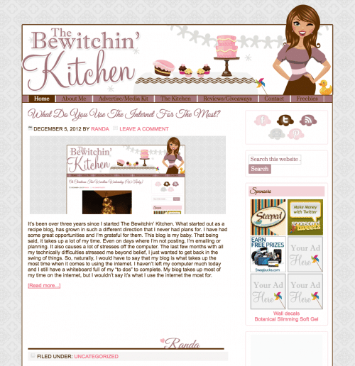 Throwback The Bewitchin Kitchen 2012