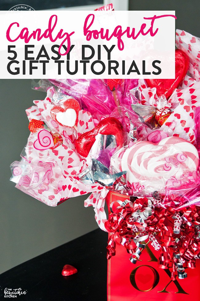 DIY Valentine Candy Bouquets Ideas 15 - iTs Home Ideas |Valentines Cotton Candy Bouquet Ideas