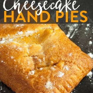 Pumpkin Pie Cheesecake Hand Pies - whether you call them hand pies or turnovers these pumpkin pastry desserts are delicious recipe to make. They're easy and take less than 20 minutes!