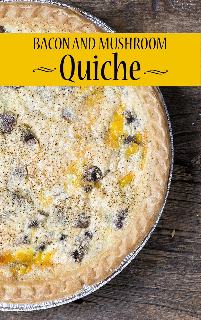 Bacon and Mushroom Quiche via The Bewitchin Kitchen