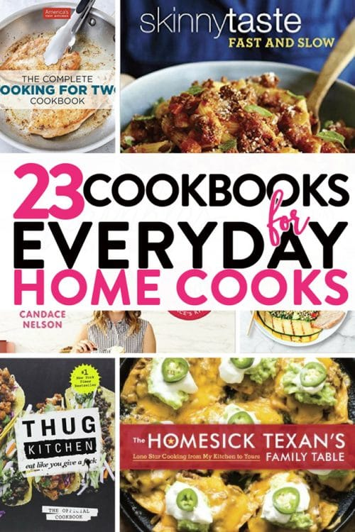 23 cookbook gift ideas for the everyday home cook. If you have someone on your gift list that loves to cook, these are the cookbooks to buy!