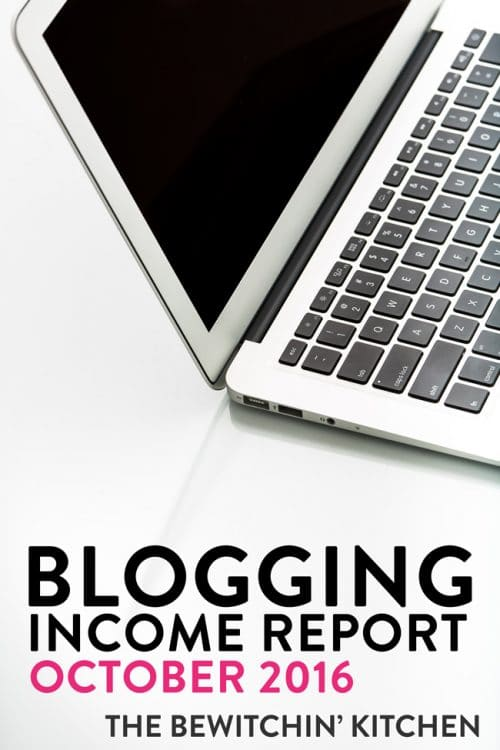 Blogging Income Report October 2016