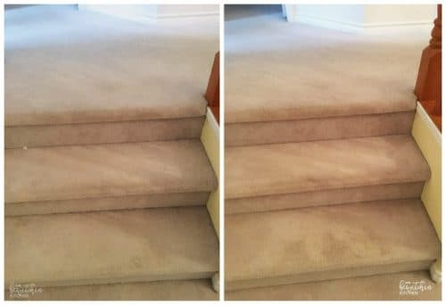 Look at this before and after from using the Dyson V8 Absolute