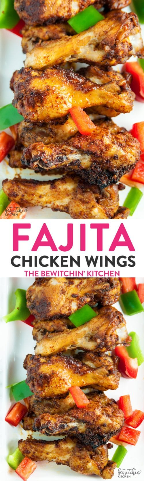Fajita Chicken Wings - a southwestern twist on hot wings with a bite of lime. Whole 30 appetizer that also makes a great paleo dinner recipe.
