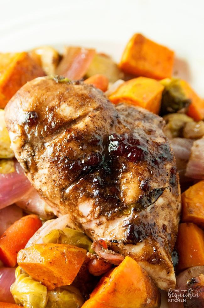 Cranberry Balsamic Chicken & Roasted Veggies | The Bewitchin' Kitchen