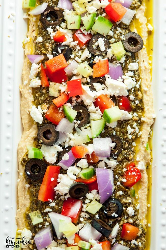 Layered Pesto Greek Dip {Easiest Recipe Ever} | The