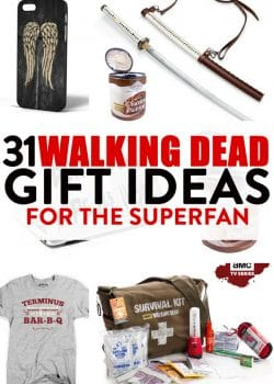 The Walking Dead gift ideas for the zombie superfan on your gift list. There are over 31 Walking Dead gifts here!