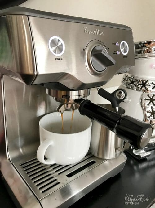 Make lattes and specialty coffees at home with the Breville Duo Temp Pro Espresso Maker