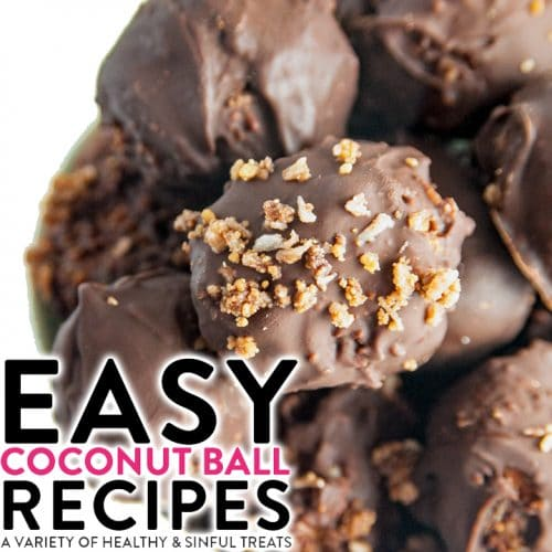 A variety of easy coconut balls. These recipes range from healthy and nutritious snacks to decadently sinful desserts.