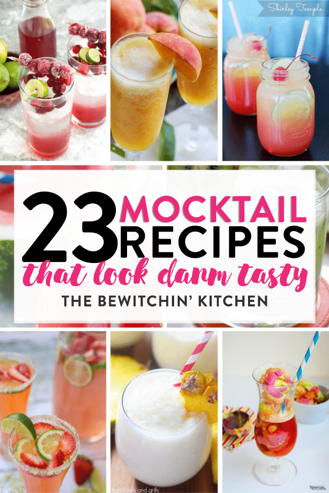 Check out these 23 Mocktail Recipes that look damn tasty. These non-alcoholic beverages are a perfect for a twist on an afternoon sip, kids drinks, or a fancy alternative to liquor for our pregnant friends at a party.