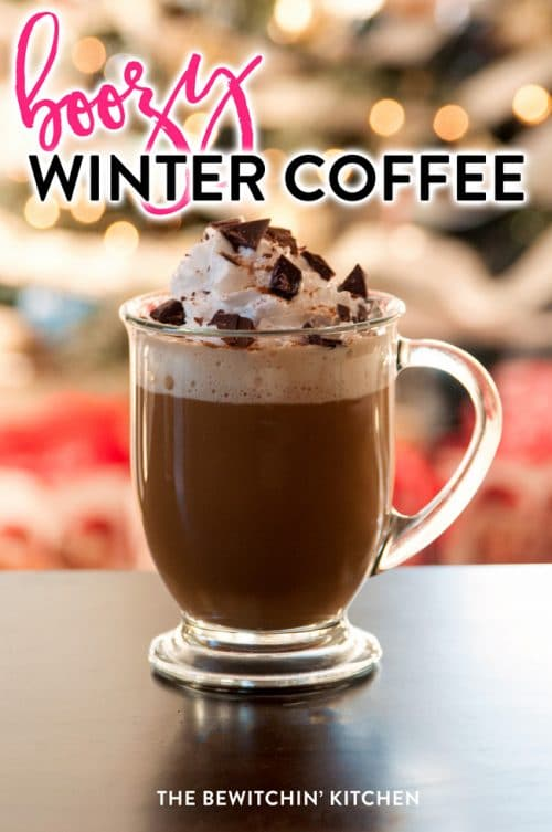 Boozy Winter Coffee - a grown up coffee with gingerbread Kahlua and Baileys Irish Cream.