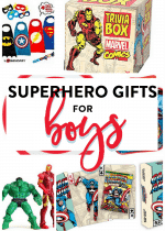 Superhero gifts for boys. Have a Marvel or DC Comic fan? Here are some easy gift ideas.