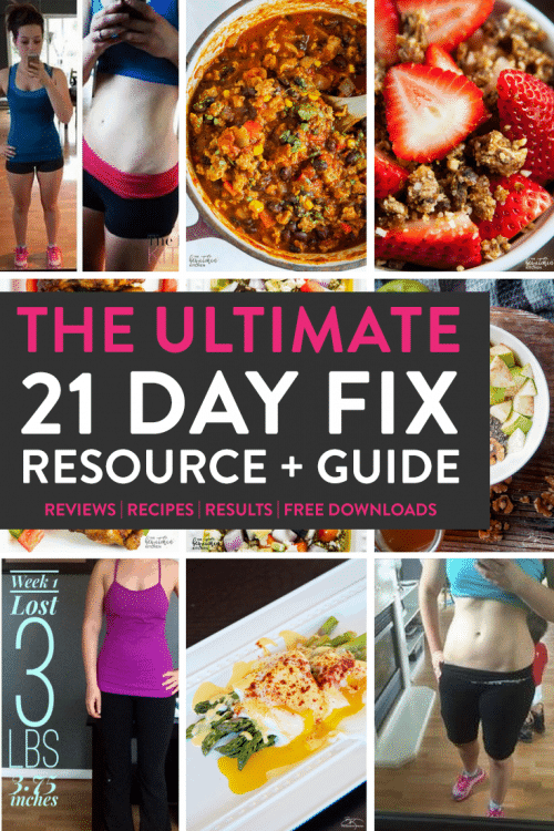The ULTIMATE 21 Day Fix resource guide -fitness program reviews, 21 day fix results, recipes, and free downloads. A great guide to the popular Beachbody health and fitness superstar!