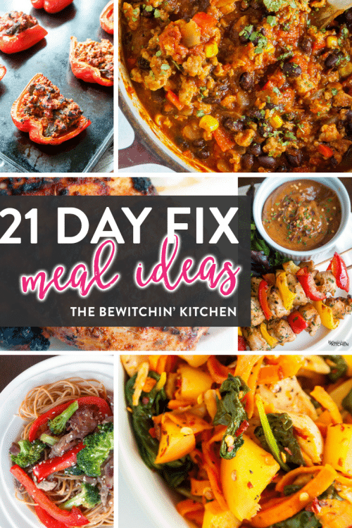21 Day Fix meal ideas. Lunch and dinner recipes featured on the ULTIMATE 21 Day Fix resource guide - features reviews, 21 day fix results, and recipes.