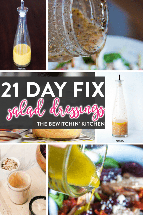 21 Day Fix salad dressing and vinaigrette recipes featured on the ULTIMATE 21 Day Fix resource guide - features reviews, 21 day fix results, and recipes.