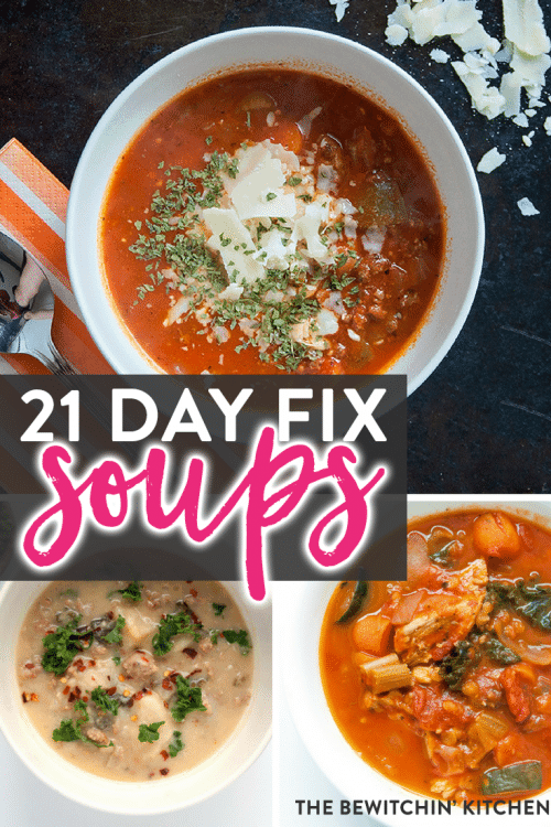 21 Day Fix soups featured on the ULTIMATE 21 Day Fix resource guide - features reviews, 21 day fix results, and recipes.