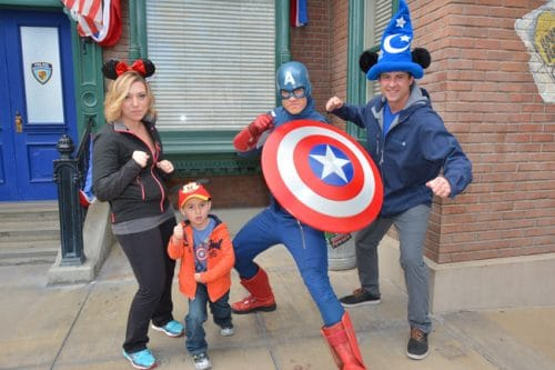 Captain America at Disneyland's California Adventure