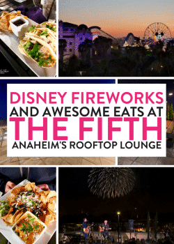 Looking where to dine with kids at Disney? The Fifth OC is a family friendly rooftop bar in Anaheim right across the street from Disneyland.