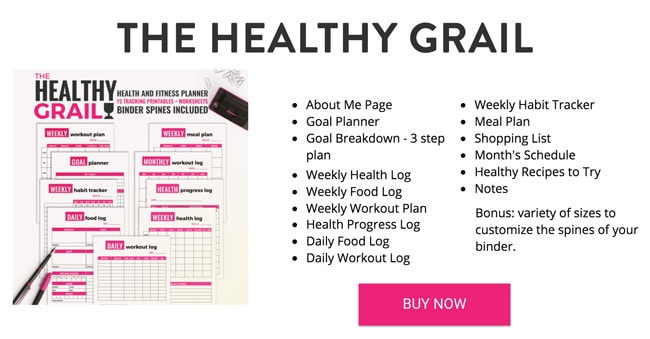 Health and Fitness Planner - The Healthy Grail - Download