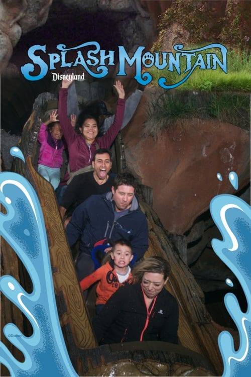 Splash Mountain at Disneyland and the beauty shots that are captured.