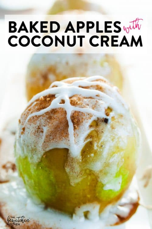 Baked Apples with Coconut Cream. This gluten free and dairy free dessert is a healthier twist on apple pie.