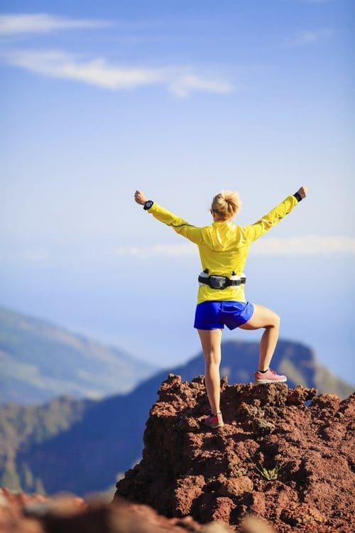 5 Ways To Get Fit On a Budget - walking, hiking, or even mountain climbing is a great workout!