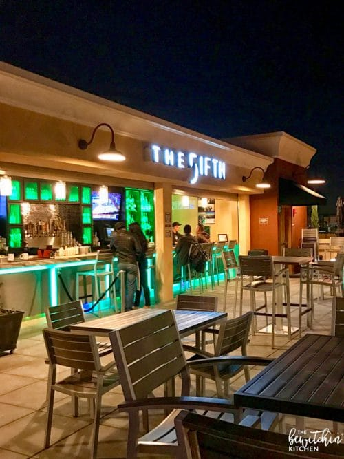 The perfect spot to watch Disneyland fireworks. The Fifth OC is a family friendly rooftop bar in Anaheim right across the street from Disneyland. Amazing food, service, and views.