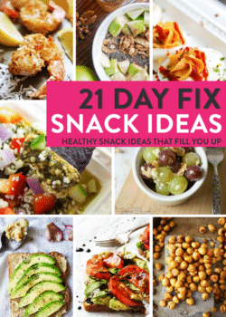 21 Day Fix Snack Ideas. Healthy snacks that are easy to make and keep you full.