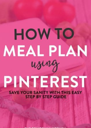 How to meal plan using Pinterest. Get organized, save your sanity, and eat healthy recipes EASILY with this meal planning guide.