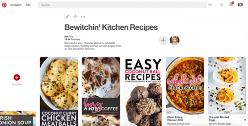 How to meal plan using Pinterest - step 1