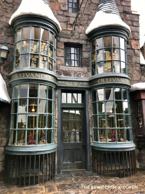 Ollivanders: The Wizarding World of Harry Potter at Universal Studios Hollywood. This is my favorite part of Universal, there is so much magic at this theme park.