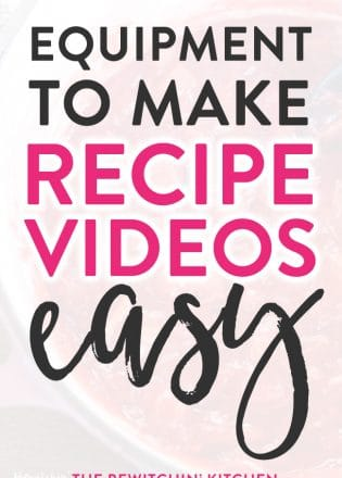 Want to know how to make recipe videos? Here's a list of equipment that makes creating cooking videos easy. A great shopping list for bloggers!