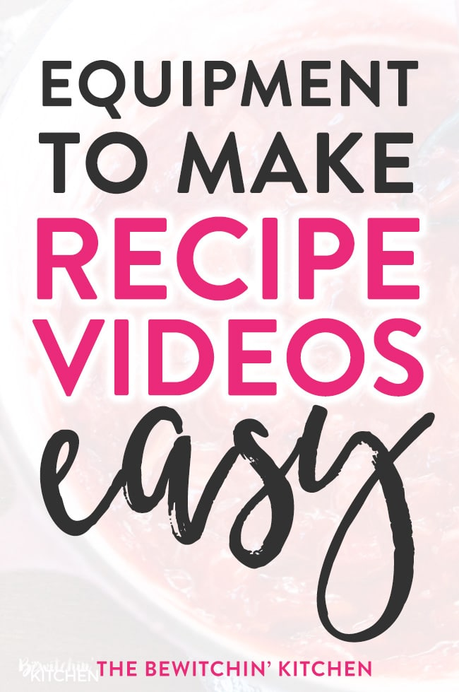 Want to know how to make amazing recipe videos? Here's a list of equipment that makes creating cooking videos easy. A great shopping list for bloggers who love food and craft tutorials.