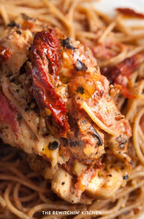 recipe: sun dried tomato basil chicken pasta recipe [39]