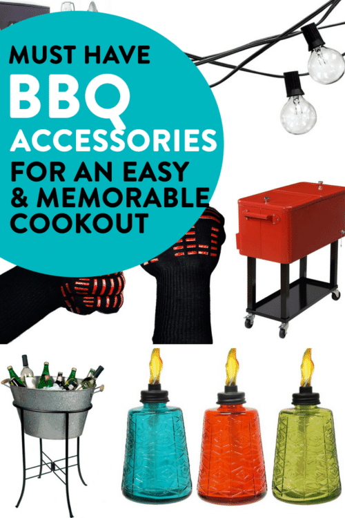 Must have BBQ accessories for an easy cookout. It's barbecue season and time to throw some burgers on the grill and host patio parties! Here are some awesome bbq tools!