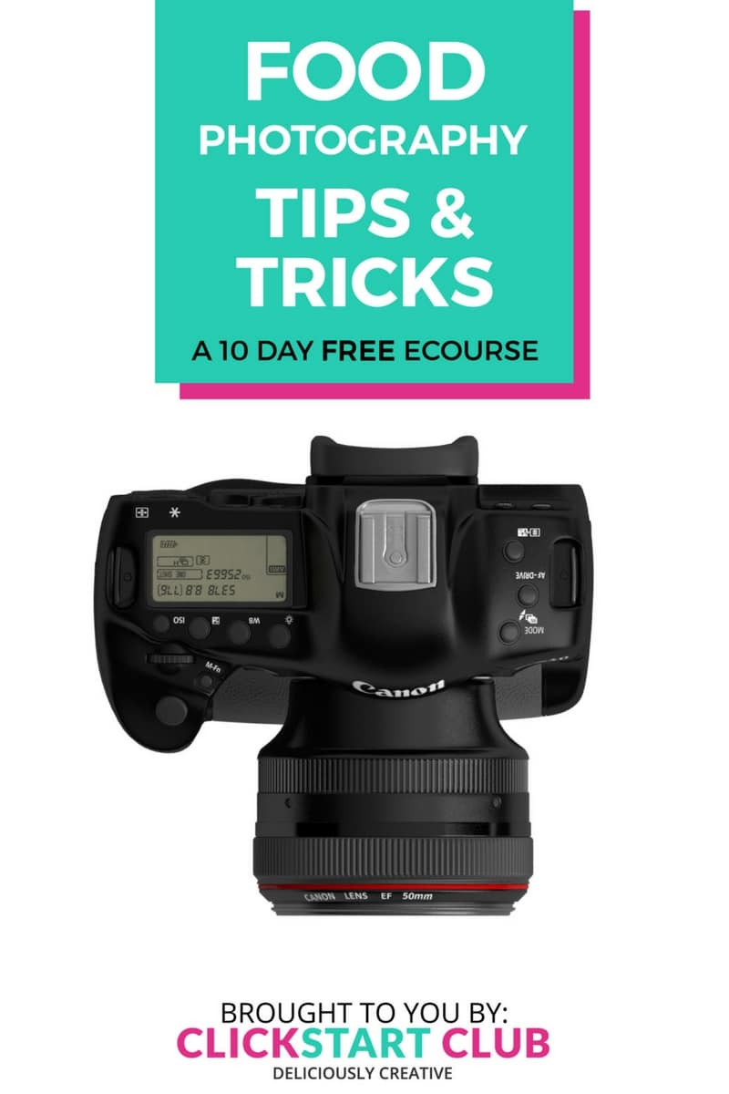 Improve your skills or simply learn how to use your DSLR with this free photography course. Not just for food blogs, it's for all bloggers, entrepreneurs, and families.
