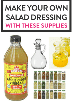 Make your own salad dressings and vinaigrettes with these supplies. Save money, get healthy, and make dinner great again!