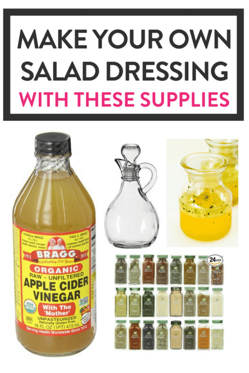 Make your own salad dressing and vinaigrettes with these supplies. Save money, get healthy, and make dinner great again!