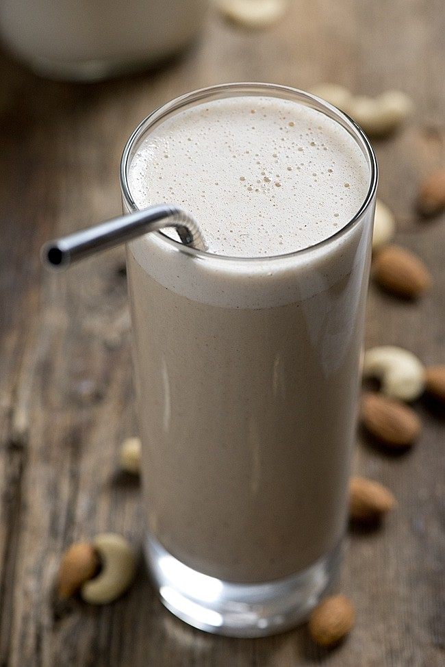 Save money and make your own almond milk. Here's how to make your own almond cashew milk using a processor or blender. This is a great healthy recipe hack to have up your sleeve for a dairy free lifestyle.