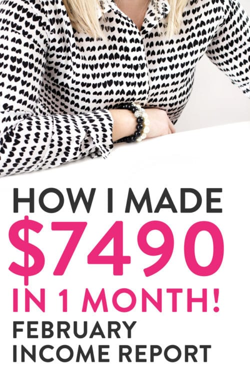 How I made $7490.56 in one month. The Bewitchin' Kitchen's February blogger income report breaks down where the income is from plus expenses.