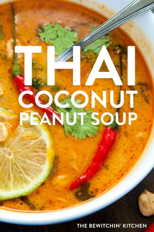 Thai coconut peanut soup
