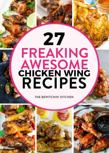 27 freaking awesome chicken wing recipes. These are some of Pinterest's most popular recipes for chicken wings.