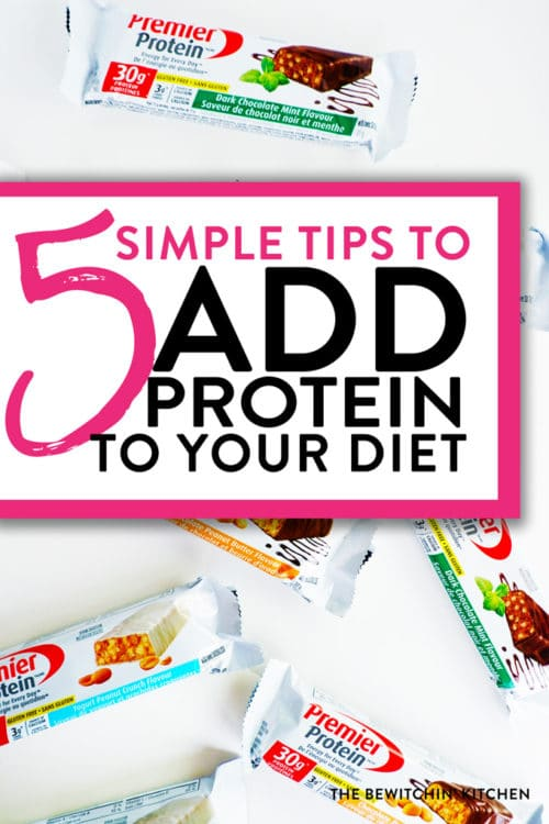 5 easy ways to add protein to your diet. These simple tips will up your protein intake and help you live a healthy lifestyle