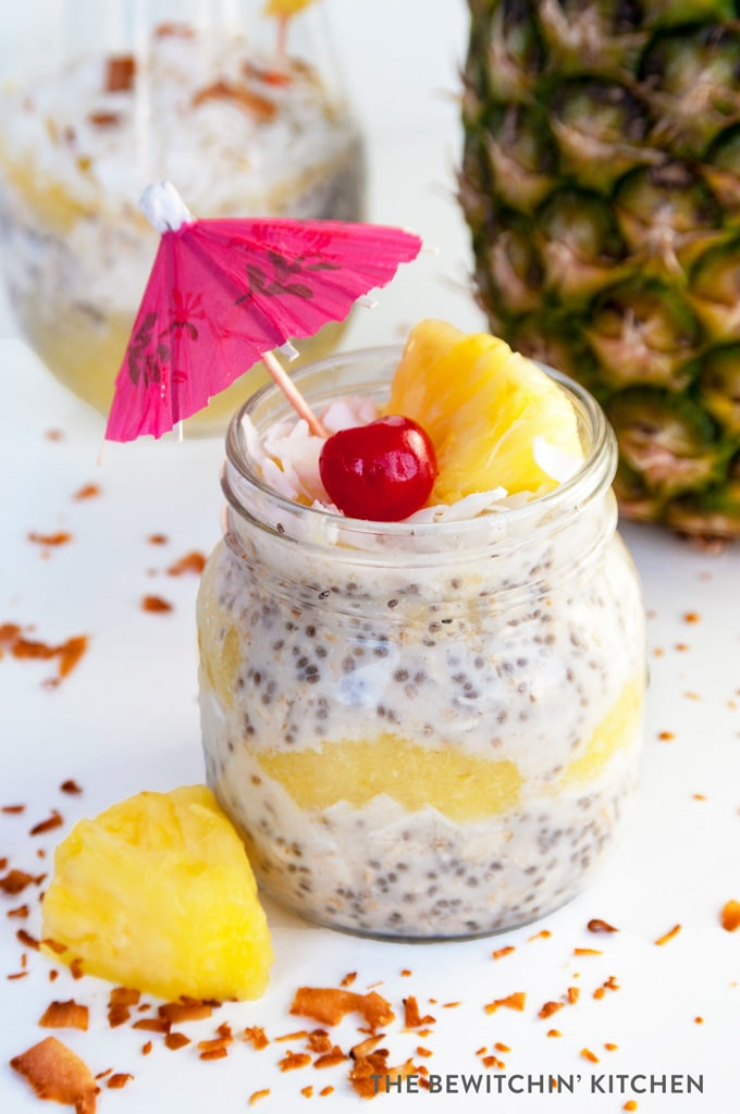Pina Colada Overnight Oats The Bewitchin Kitchen