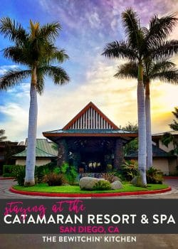 I loved staying at the Catamaran Resort and Spa located in Mission Bay. It's one of the beautiful beach resorts in San Diego, California. Perfect for family travel.