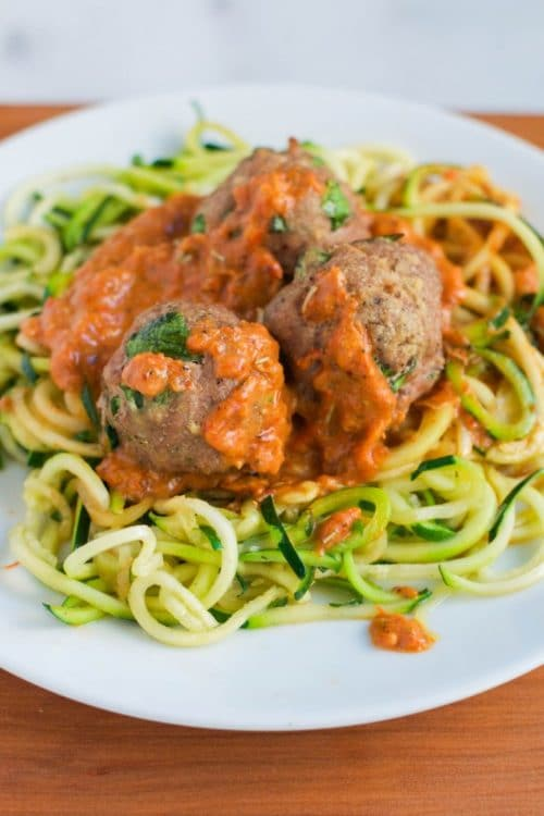 Zoodles-with-Turkey-Meatballs