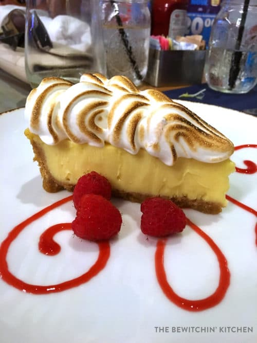 This key lime pie is the most amazing pie I have ever had. Located at Angler and Ale at Hawks Cay Resort in Duck Key Florida.