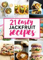 Jackfruit is popular with healthy recipes. Check out these tasty jackfruit recipes that are full of fiber, vegan, and clean eating. Some Whole30 recipes are included as well.